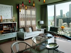Great views, designed by Vern Yip, lots of Frank Lloyd Wright influences... what's not to love?