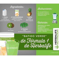 #mulpix Prueba esta nueva receta de batido verde ☎️ 3123781522 #receta #batidoverde #Herbalife #dieta #salud #batido #piña #fit