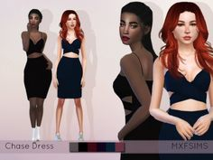 Chase Dress by mxfsims at TSR via Sims 4 Updates
