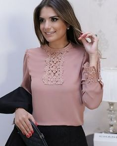 Beautiful blouse - love the detail, sophistication, feminine-style. Blouse Styles, Blouse Designs, Hijab Fashion, Fashion Dresses, Casual Outfits, Cute Outfits, Vetement Fashion, Mein Style, Blouse And Skirt