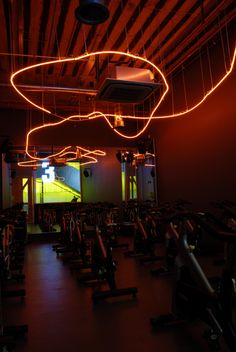 Light + Design - Gymbox Westfield. Cold Cathode