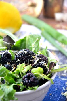 Sweet Blackberry Lemon Salad #glutenfree