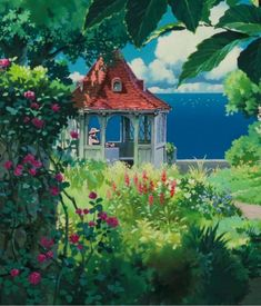 Studio Ghibli, dare we say, is the most famous anime movie studio ever. Created by Hayao Miyazaki in it has released many of the genre-shaping animation f Hayao Miyazaki, Studio Ghibli Art, Studio Ghibli Movies, Film Animation Japonais, Studio Ghibli Background, Drawing Scenery, Environment Concept Art, Anime Scenery, Aesthetic Anime
