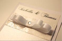 Wedding invitation Engagement invitation White & by TLInvitations, $4.35