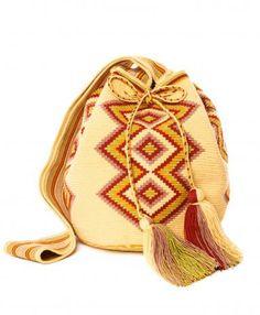 Miss  Mochila  Yellow Cartagena Mochila Tassel Bag