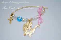 Handmade baby's pin sterling silver 925, gold plated.