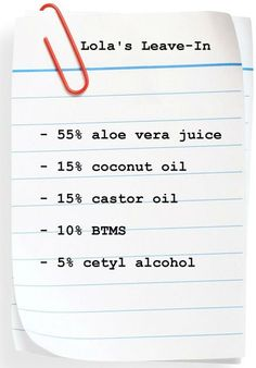 leave in conditioner recipe for natural hair