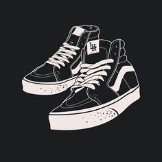 New one Vans sk8 hi #illustration #graphic #design #customdrawing #shoes #shoesillustration #classic #vans #vansshoes #blackandwhite #darkartists #lhhc #westcoast #hardcore #band #bandmerch #merchandise #vanssk8hi