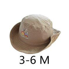 c2a0a667b03 Children Boys Sun Hats Spring Summer Caps Cotton Bucket Hat Baby Kids Boy  Cool Tractor Cap