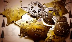 Need a Stinkin' Badge for your Halloween costume? Sheriff, Marshal, Deputy, Texas Ranger and more at CircleKB.com