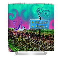 Shower Curtains - Phellowship and Phamily Shower Curtain by Kevin J Cooper Artwork
