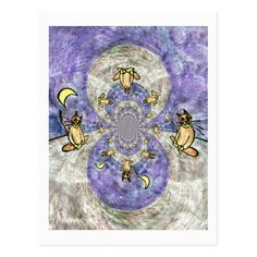 Magic Cat Kaleidoscope Artistic Cards With Quotes ready to write blank postcard  #artisiticpostcards - Johann Wolfgang von Goethe quote on the back of the card. Stuff  from my Spieklyart Zazzle Shop.