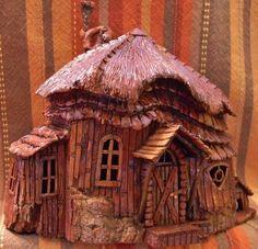 Cottonwood Bark houses by Norm Minske