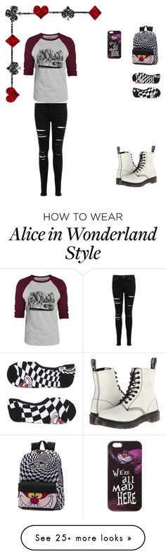"""""""Alice in the wonderland"""" by oommgg03 on Polyvore featuring Vans, Miss Selfridge, Dr. Martens and Disney"""