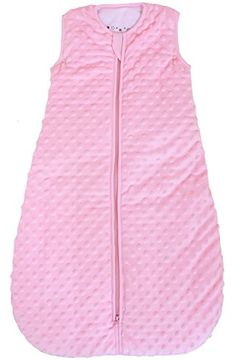 "Baby sleeping bag ""Minky Dot"" rose, quilted and double layered, 2.5 Togs (Small (3 - 11 mos)) - $34.00"