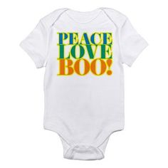Peace Love Boo! for Halloween Body Suit