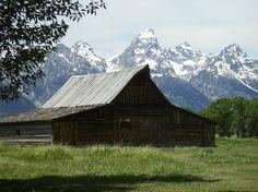 Mormon Row in Grand Tetons National Park