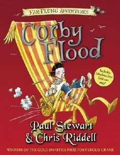 THE FAR-FLUNG ADVENTURES: CORBY FLOOD, by Paul Stewart and Chris Riddell. This trilogy can be read in any order, and the books all have connecting characters and places as well as clues sprinkled throughout. So much fun and brilliantly illustrated. At around 200 pages, these are PERFECT for kids ready to move beyond MAGIC TREE HOUSE and JUNIE B JONES. Please read my review!