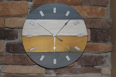 Rustic wood clock Round wood clock by HendryxHouseDesigns on Etsy, $35.00