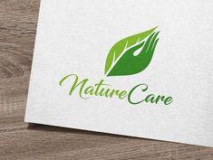Nature Care Logo by IKarGraphics on Vector Logo Design, Logo Design Template, Graphic Design, Logo Templates, Modelo Logo, Green Logo, Care Logo, Logo Nasa, Logo Branding