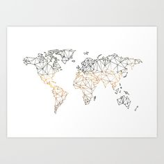 Buy World map multicoloured by LinneaHjelm.com as a high quality Art Print. Worldwide shipping available at Society6.com. Just one of millions of products available.