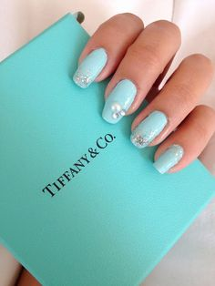 tiffany and co inspired nails