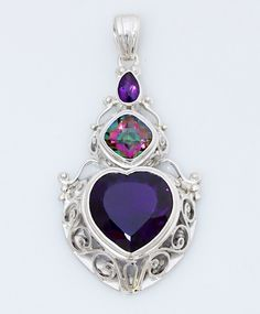 Amethyst and mystic topaz set in handmade sterling silver. Design by Shankari This hart pendant is perfect gift for your love one in valentines day,, or even for your self..  store.shankari.com/jewelry/sterli… pic.twitter.com/uAPyUr8aaS 8:41am - 11 Jan 15