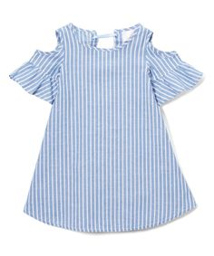 Treat your little sweetie to the soft feel of this breathable cotton-blend dress that ties in the back. Cutouts at the shoulders will help to keep her cool.50% cotton / 50% polyesterHand wash; hang dryImported