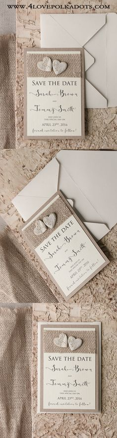 Rustic Save the Date Cards #countrywedding