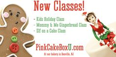 Pink Cake Box offers cake, cupcake and cookie decorating classes at our bakery in Denville, NJ. Learn everything from stacking, icing fondanting to sculpting handbags, creating sugar figures or stitched animals.