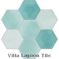 Villa Lagoon Tile - Mixed Aqua Hex Cement Tile, stock: 715 sq. feet available 12/13