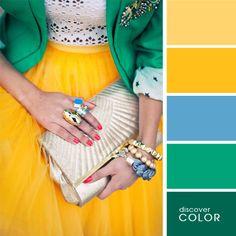Желтый и зеленый | DiscoverColor.ru