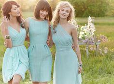 MINT THREADS: Cool and classic Mint continues to rule wedding palettes and rock the demure but sassy bridesmaid look.