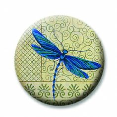 "Dragonfly (Magnetic) Design insert  that fits into 1""Magnabilities interchangeable jewelry."