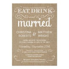 Burlap Rustic Country Wedding Invitations | Visit the Zazzle Site for More: http://www.zazzle.com/?rf=238228028496470081