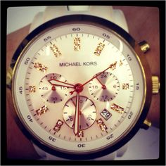 My Micheal Kors watch my bf bought me  beautiful!