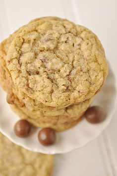 Malted Milk Ball Chewy Cookies #recipe ~ Use #McCormick Vanilla Extract.