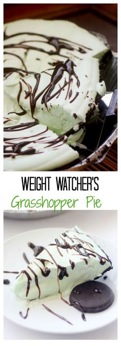 Weight Watcher's Grasshopper Pie - Recipe Diaries #mint