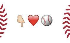 """""""This fan loves baseball."""""""