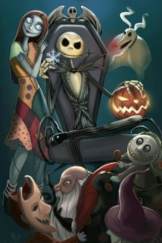The Gang from Tim Burton's The Nightmare Before Christmas.