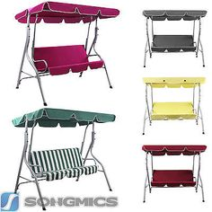 garden swing seat swing chair  hammock outdoor  swinging bench  3 seater ghs replacement b u0026q sorrento   sicily green cloth canopy for swing      rh   pinterest