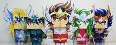 Você já deve ter visto por ai os Paper Toys, aqueles bonecos feitos de papel. Ensinaremos a fazer Paper Toys dos Cavaleiros do Zodíaco. Eu estava procurando