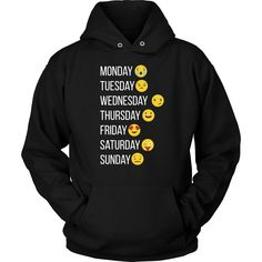 Emoji Hoodie, make my week with emojis