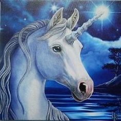 "Lisa Parker Sacred Unicorn Plaque 11"" x 11"""