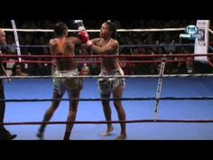 miriam nakamoto vs julie kitchen. controversial fight, but miriam owns it. | muai thai kick boxing