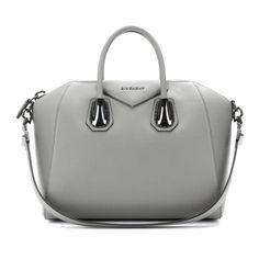 Givenchy Antigona Medium Leather Tote (10.150 BRL) ❤ liked on Polyvore featuring bags, handbags, tote bags, purses, bolsas, sacs, pearl grey, genuine leather tote, leather hand bags and leather tote purse