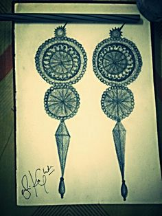 Mughal period inspired and self designed earrings :)