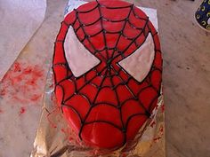 step by step Spiderman Cake