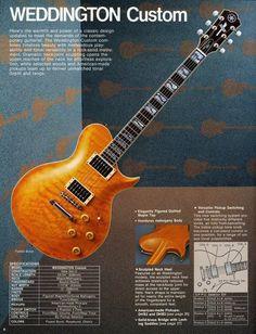 Weddington 1991 catalog page Yamaha Guitars, Artists And Models, Guitar Collection, Electric Guitars, Vintage Stuff, Catalog, Magazine, History, Cool Stuff