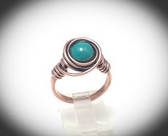 Copper ring Copper wire wrapped ring with chinese by JCLwire